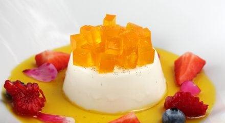 Panna cotta vaniglia e zafferano
