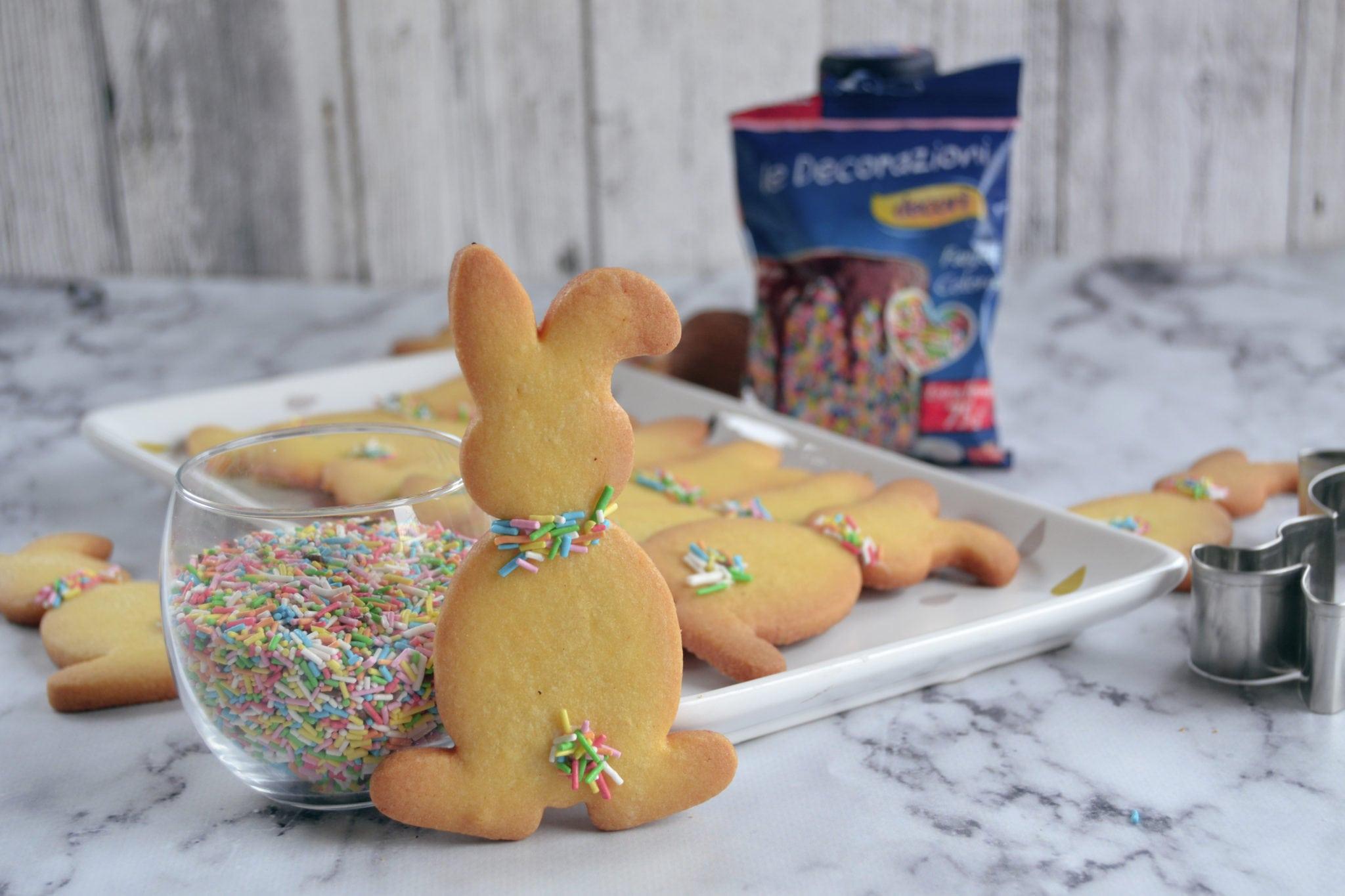Biscotti pasquali a forma di coniglietto