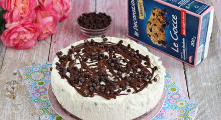 Cheesecake alla stracciatella senza cottura