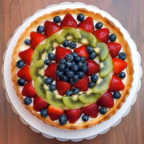 decorazione crostata di frutta