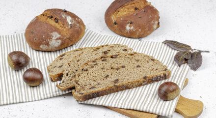 Pane con farina di castagne e cioccolato fondente